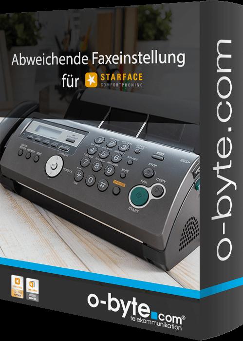 obyte - Abweichende Faxeinstellungen
